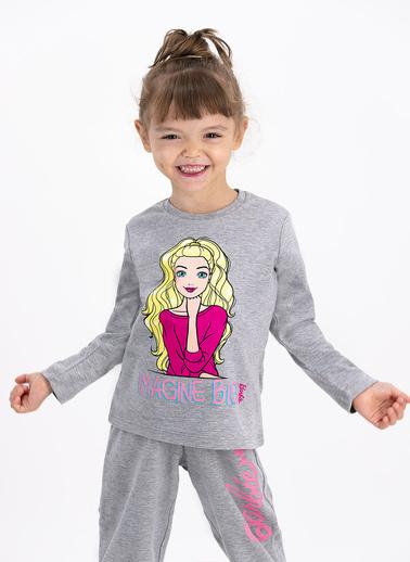 Barbie Pijama Takım Gri